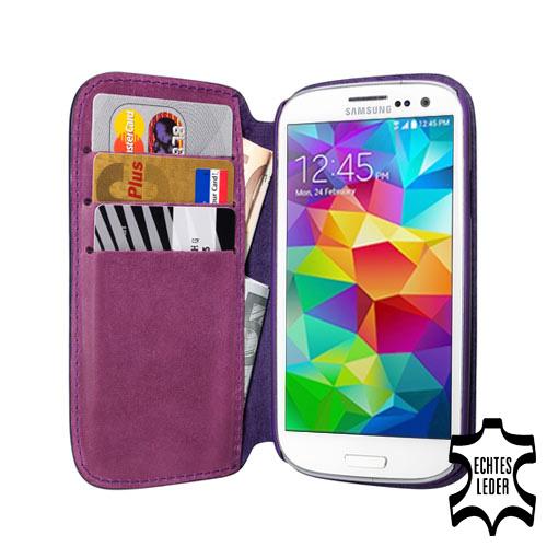 Echt Leder Tasche für das Samsung Galaxy S5 , Idealer Schutz, Hülle Etui Case
