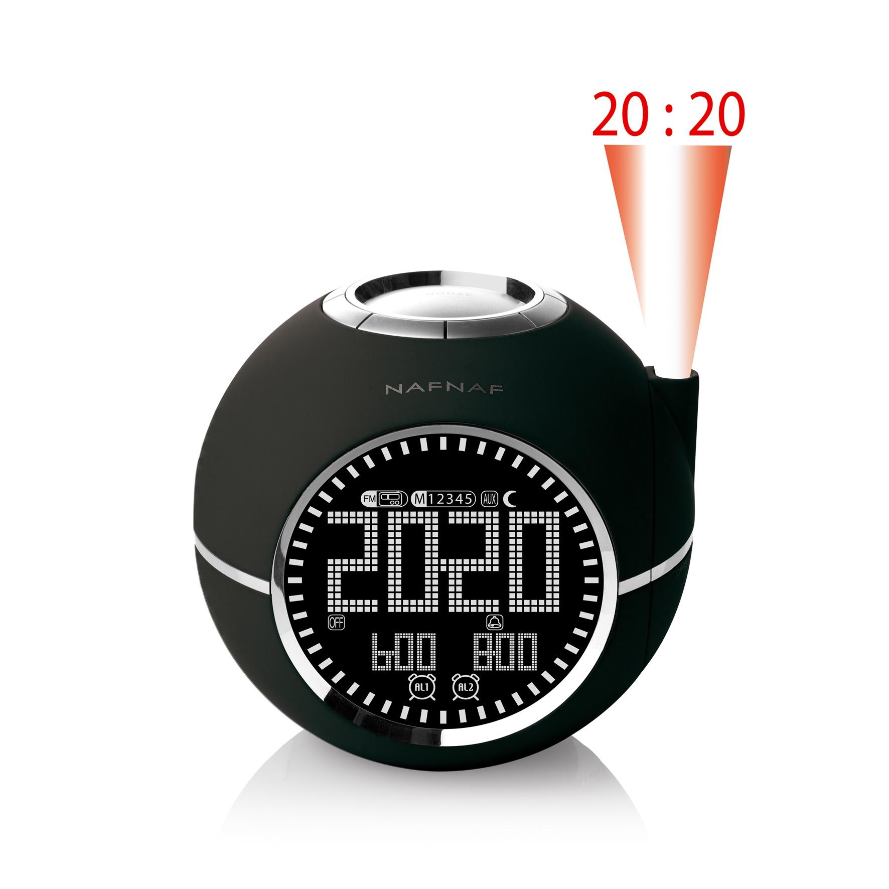 NAFNAF-Uhrenradio-Radiowecker-Clockine-mit-LCD-Display-und-MP3-Radio-Wecker