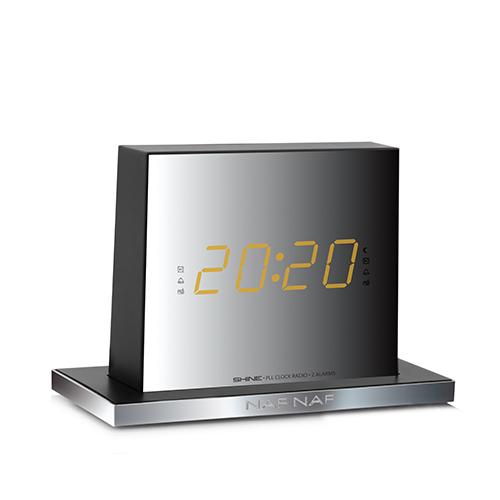 nafnaf shine radiowecker mit snooze und sleep funktion spiegelglanz design ebay. Black Bedroom Furniture Sets. Home Design Ideas